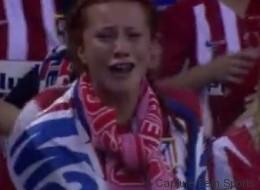 Cette supportrice (très) sensible de l'Atletico a amusé les téléspectateurs