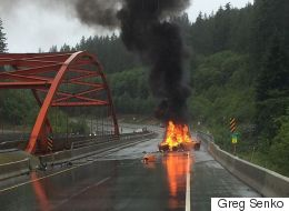 That B.C. Highway Fire Is A $260,000 Sports Car