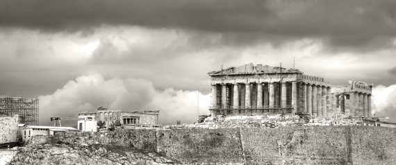 GREECE VACATION BLACK AND WHITE