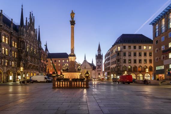 munich germany city night