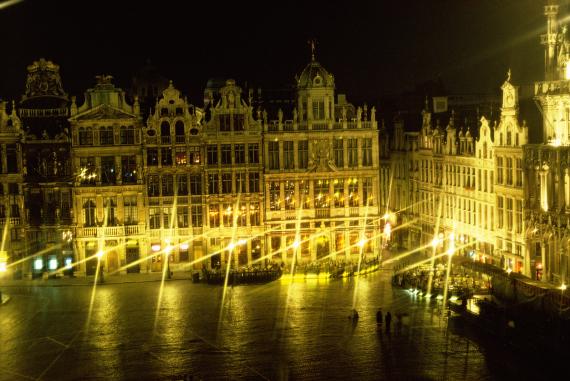 brussels belgium city night
