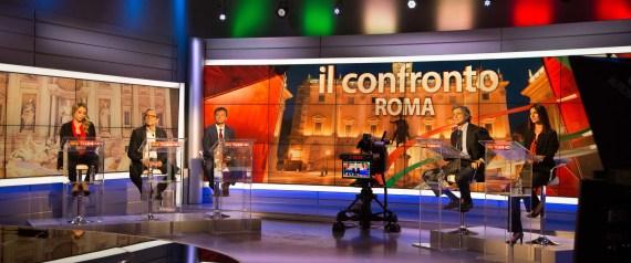 SINDACO DI ROMA CONFRONTO SKY