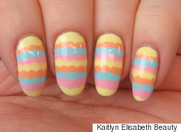 Add A Pop Of Colour To Your Look With Scalloped Nail Art