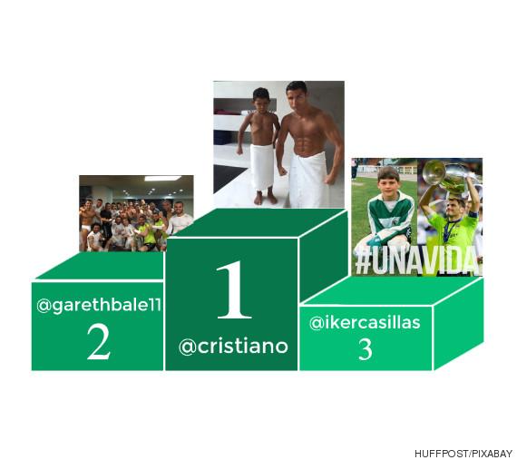podium futbolistas instagram