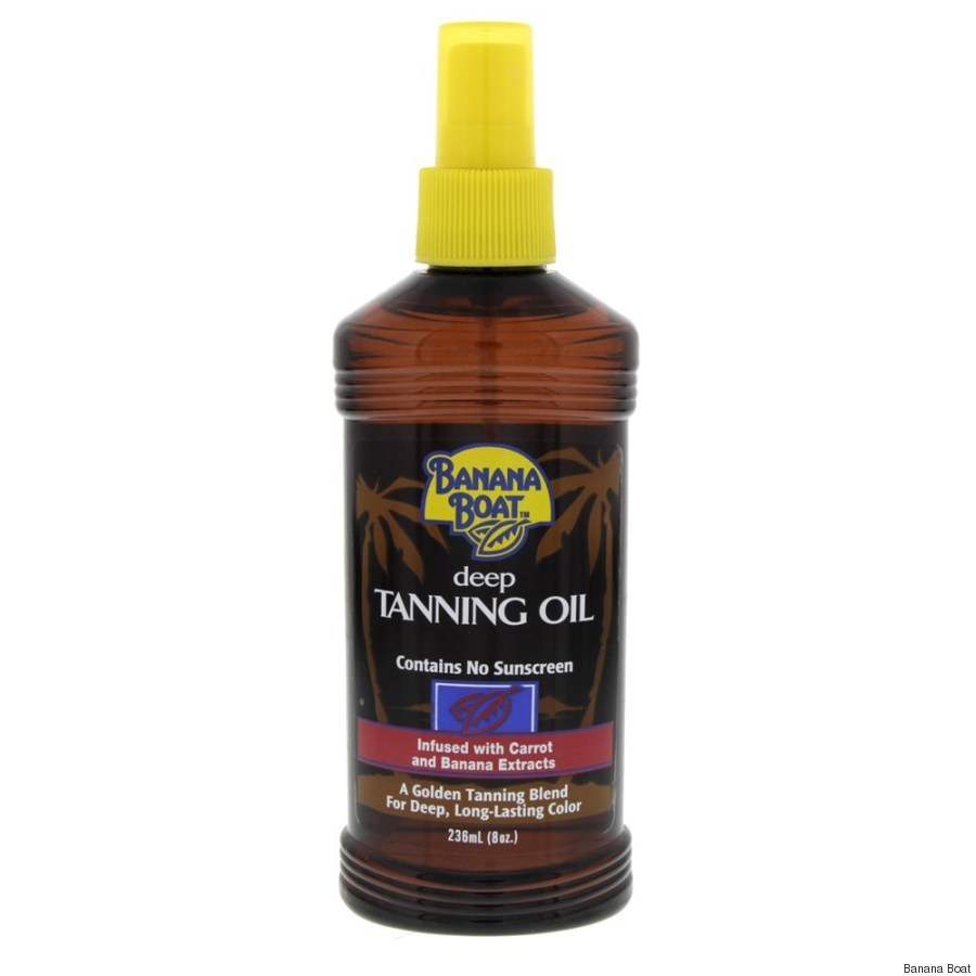banana boat deep tanning oil