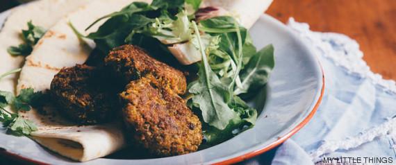 falafels zanahoria quinoa