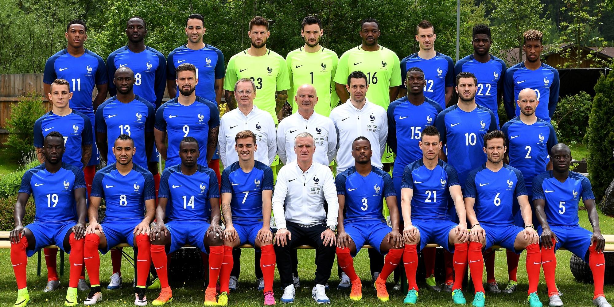 D couvrez tous les joueurs de l 39 quipe de france dans la photo officielle de l 39 euro 2016 - Image de joueur de foot a imprimer ...