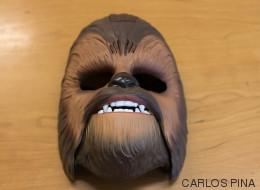 ¿Cómo es una auténtica máscara de Chewbacca?