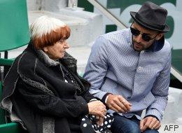 Agnès Varda et JR à Roland-Garros pour Djokovic