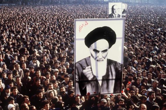 ayatollah khomeini 1979 protest