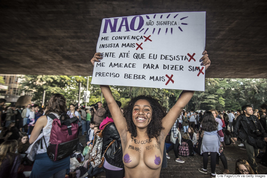 women protests brazil