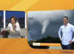 Fou rire de ces deux présentateurs devant ce drôle de nuage... (VIDÉO)