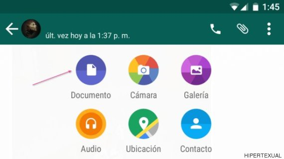 enviar documentos whatsapp