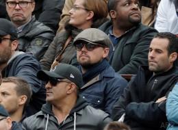 Leonardo DiCaprio timide mais remarqué à Roland-Garros