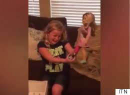 Girl With Prosthetic Leg Gifted With Doll That Looks Just Like Her