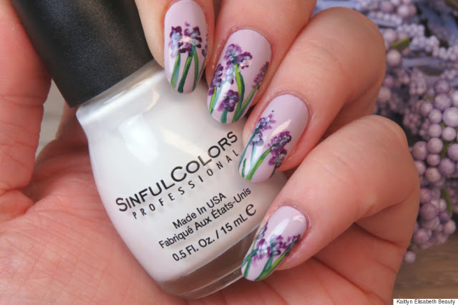 Nail art an easy floral watercolour design flower nail art prinsesfo Images
