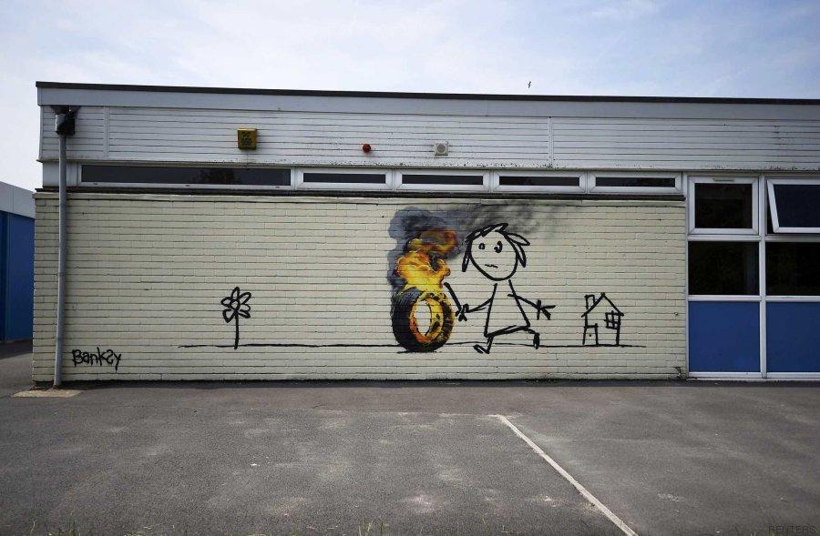 banksy escuela
