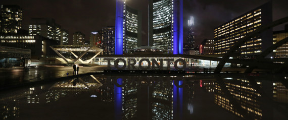 CITY OF TORONTO AT NIGHT
