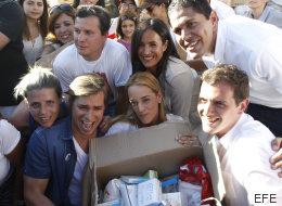 PP y Ciudadanos arropan a la mujer de Leopoldo López en Madrid