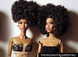 of heritage and um, hair, about 40 African-American Barbie dolls