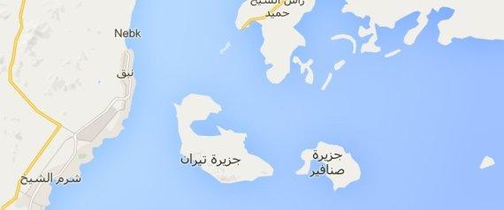 TIRAN AND SANAFIR MAP