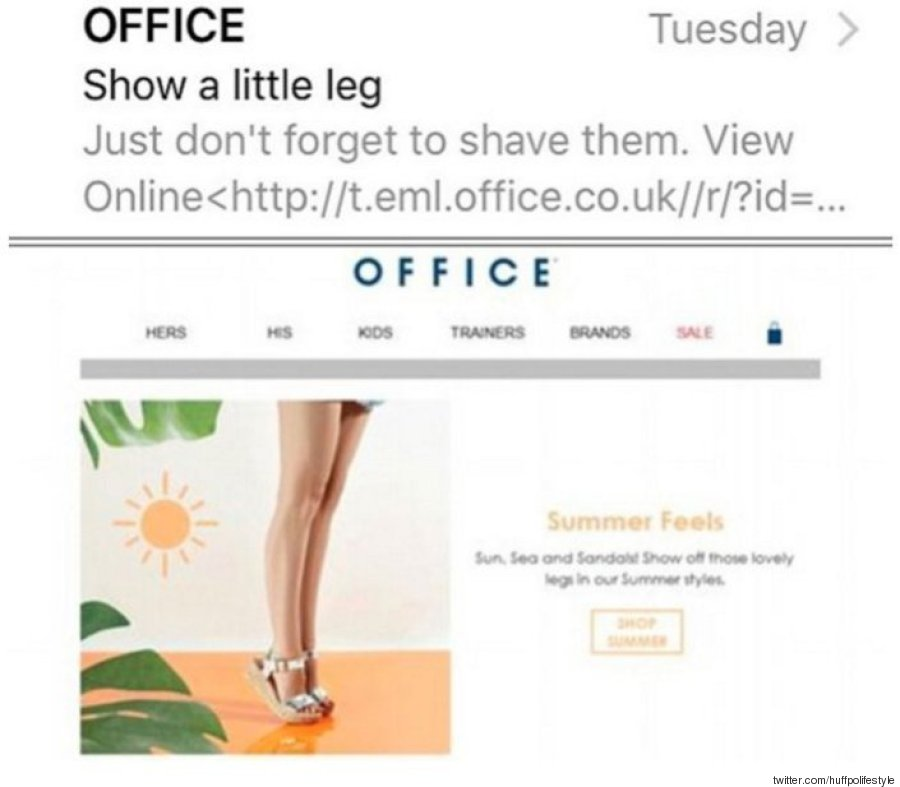 office shave legs email