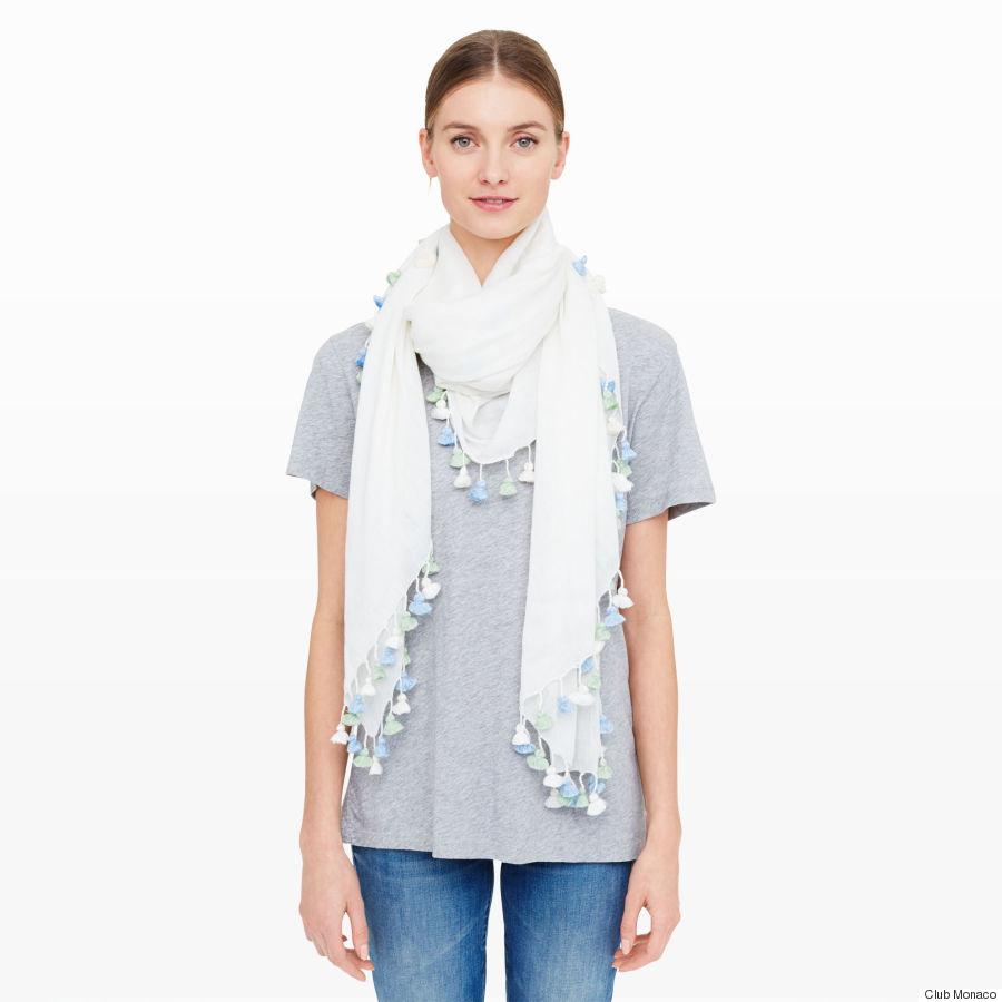 club monaco tassel scarf