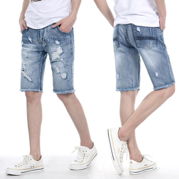 denim short man