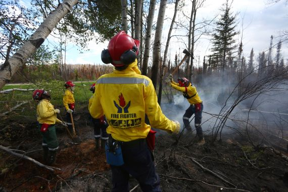 fort mcmurray wildfire south african firefighters
