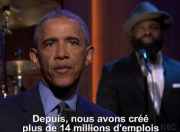 Obama livre son bilan... en slammant