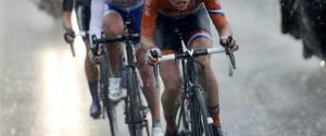 Road Cyclist Heavy Rain