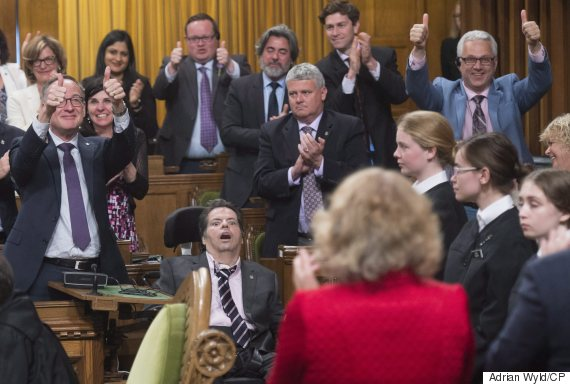 Dying MP present as House votes 225-74 to change 'O Canada'