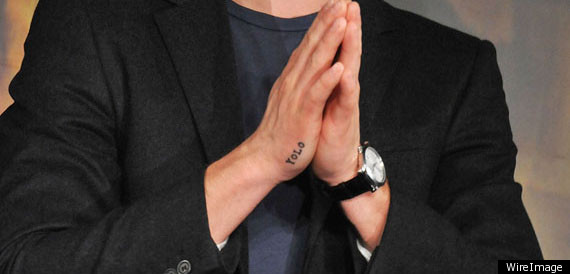 Zac Efrons Yolo Tattoo You Only Live Once Photos Huffpost