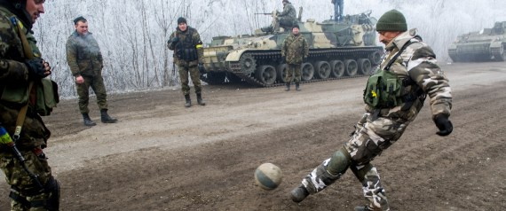 SOLDIERS PLAYING SOCCER