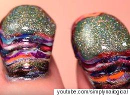 Voici de quoi ont l'air 116 couches de vernis à ongles (VIDÉO)