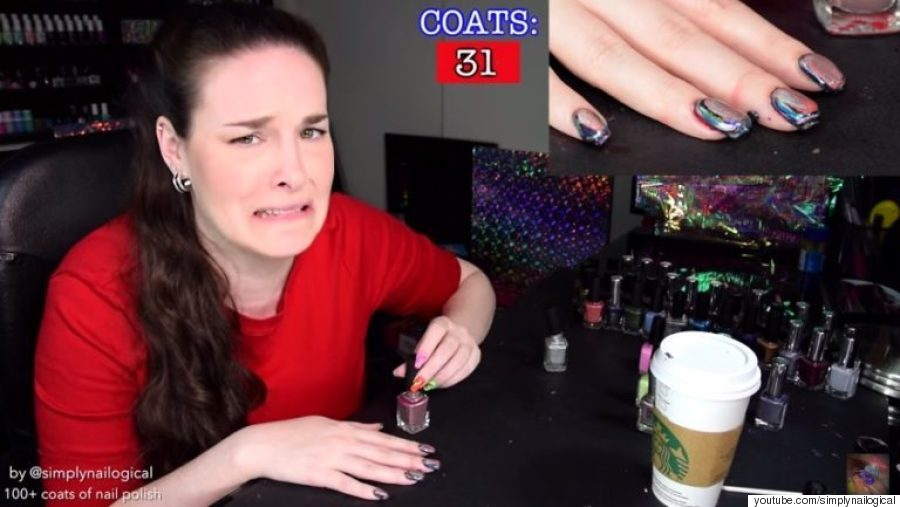 116 layers of nail polish