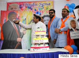 Hindu Sena Leaders Celebrating Donald Trump's Birthday May Even  Leave Him A Little Red-Faced