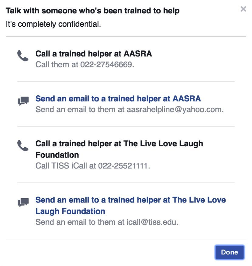 facebook suicide india