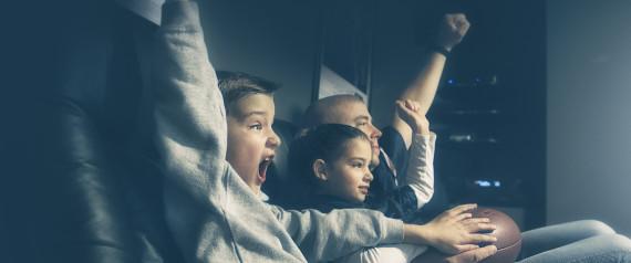 CHILDREN WATCH FOOTBALLF