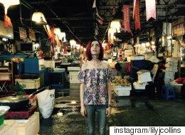 한 달 넘게 한국에서 영화 '옥자'를 촬영 중인 릴리 콜린스의 신기한 여행(사진 32)