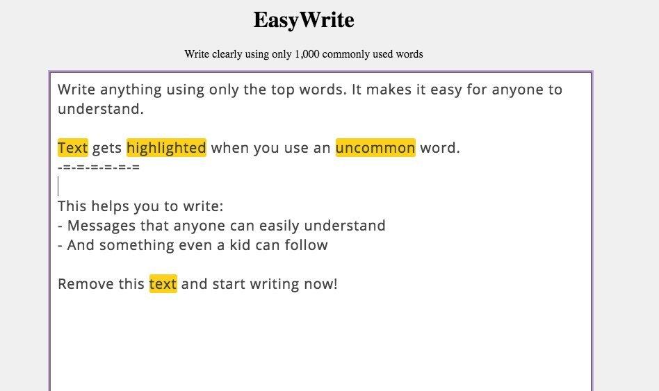Easy writer online