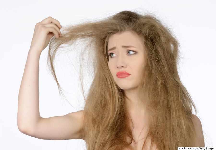 woman frizzy hair
