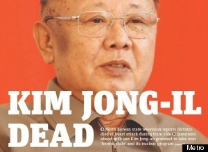 Kim Jong Il Dead Newspapers