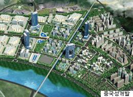 평택에 '중국 친화 도시'를 조성하는 계획이 승인됐다(조감도)