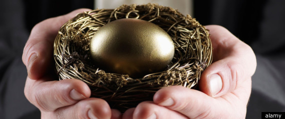 Holding Nest Egg