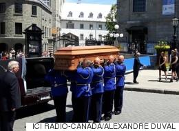 L'ancien maire de Québec Gilles Lamontagne conduit à son dernier repos