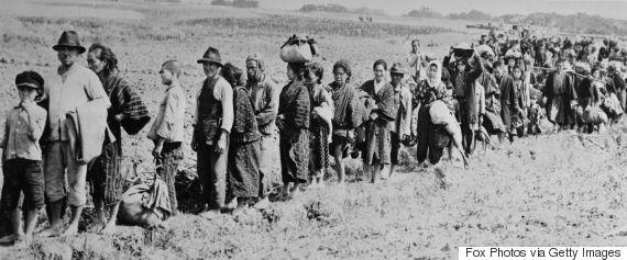 okinawa civilians returning from