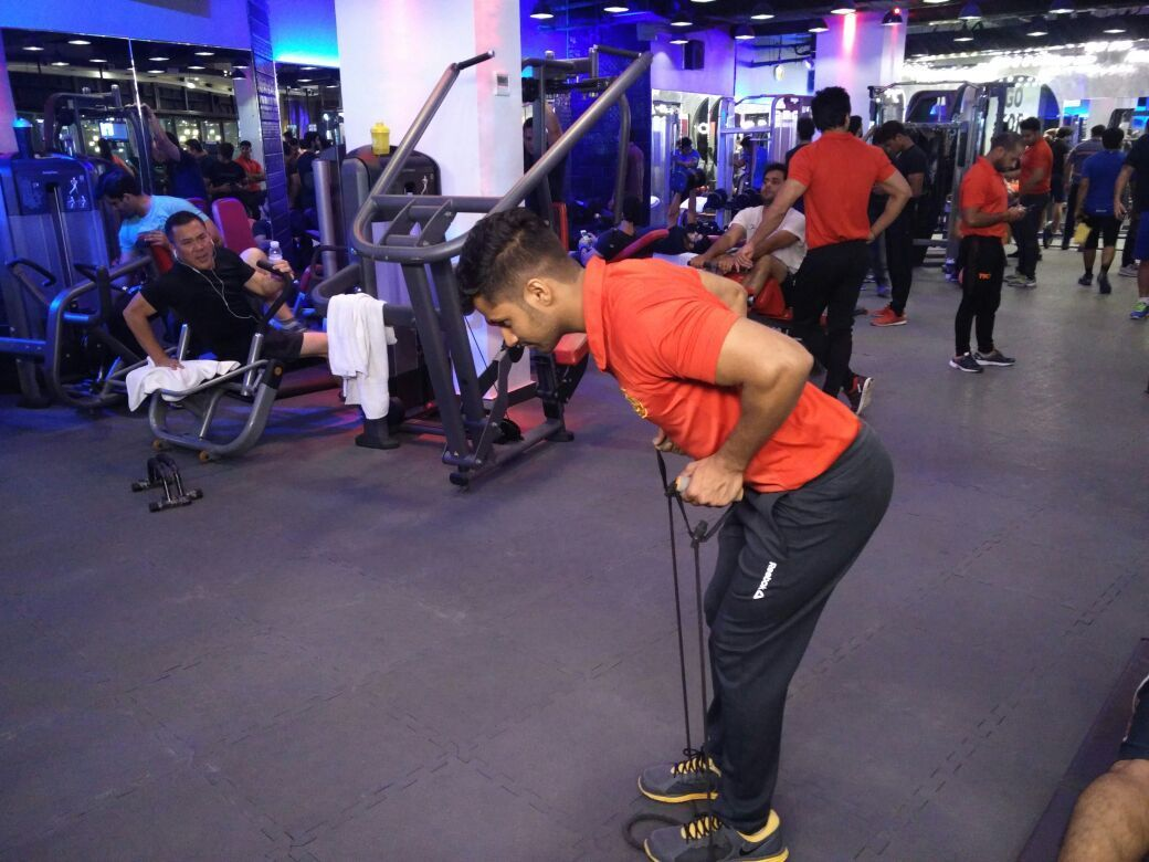 bent over row resistance band