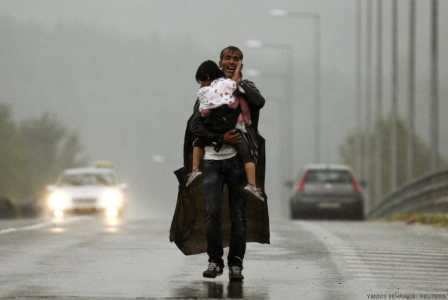 padre refugiado
