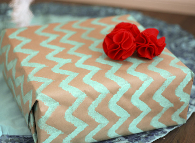 Last Minute Gift Ideas Chevron Wrapping Paper Huffpost Life